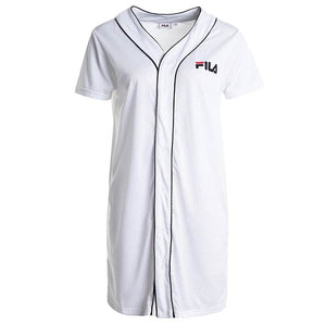FILA WOMAN ROBIN BUTTON BASEBALL DRESS WHITE