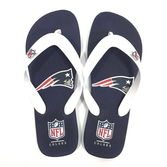 FANATICS NFL FLIP FLOP PATRIOTS NAVY AND WHITE