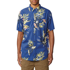 GLOBE PARADISE FOUND SHORT SLEEVE SHIRT ATOLL BLUE