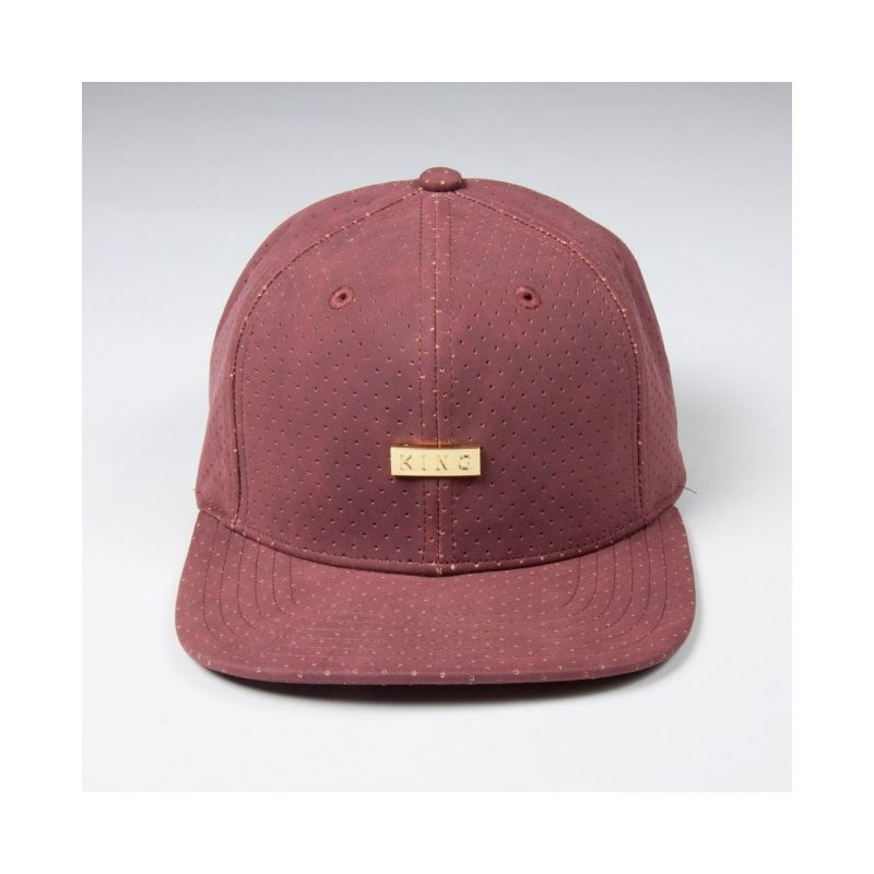KING APPAREL GORRA  6 PANEL LUXE SNAPBACK GRANATE