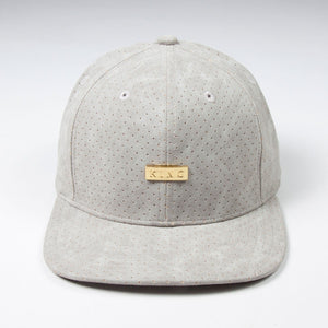 KING APPAREL GORRA 6 PANEL LUXE SNAPBACK GRIS