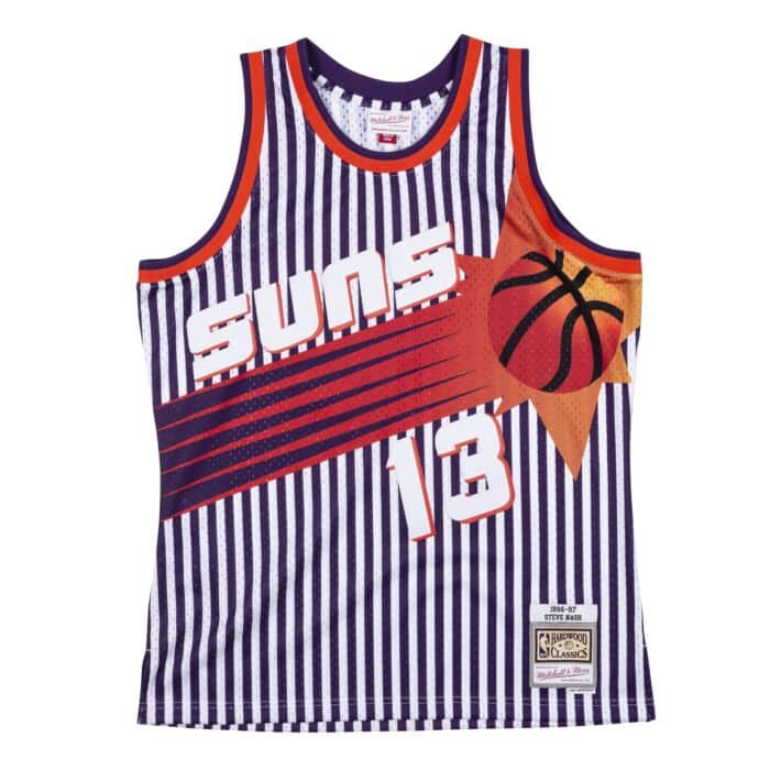 MITCHELL AND NES STRIPED SWINGMAN JERSEY  PHOENIX SUNS