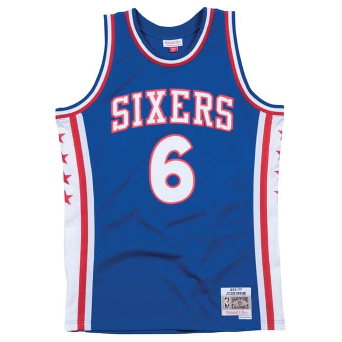 MITCHELL & NESS NBA SIXERS JULIUS ERVING 1976-77 AZUL