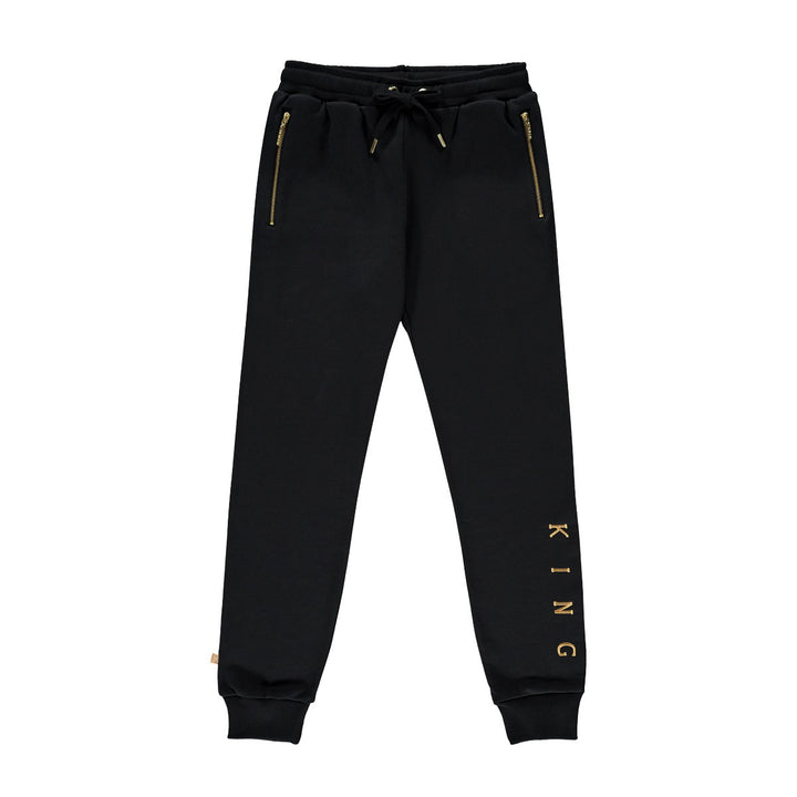 KING APPAREL CHANDAL TENNYSON NEGRO Y DORADO