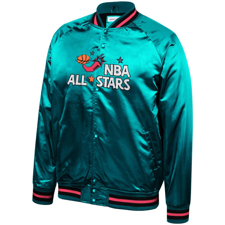 MITCHELL & NESS NBA JACKET ALL STAR LIGHTWEIGHT SATIN TEAL