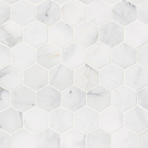 "CALACATTA CRESSA 2""HEXAGON HONED - 10 PACK"
