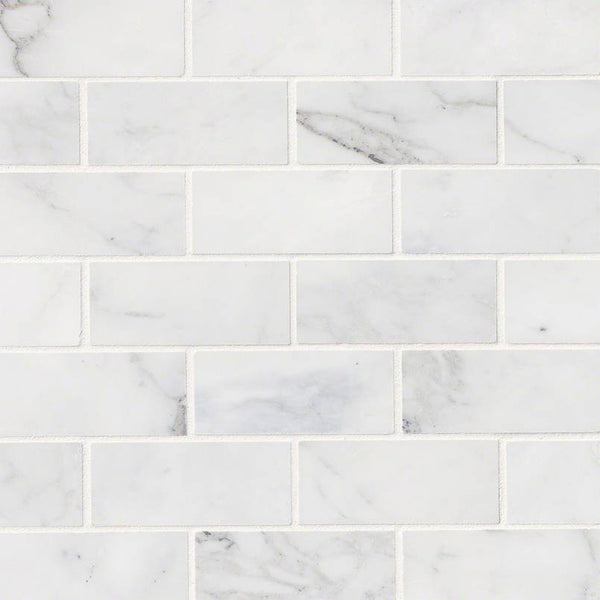 CALACATTA CRESSA WHITE SUBWAY TILE 2X4 - 10 PACK