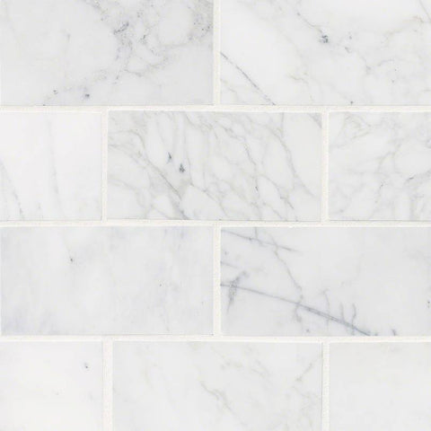 CALACATTA CRESSA WHITE SUBWAY TILE 3X6 - 40 PACK