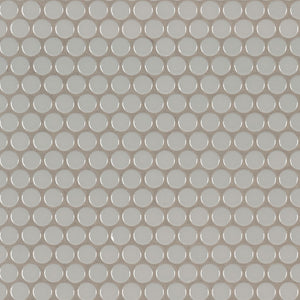 GRAY GLOSSY PENNY ROUND MOSAIC - 20 PACK