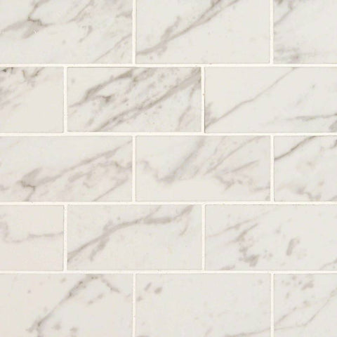 PIETRA CARRARA SUBWAY TILE 2X4 - 8 PACK