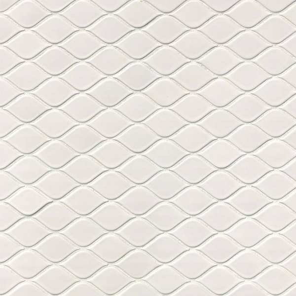 WHITE TEAR DROP GLOSSY MOSAIC - 20 PACK