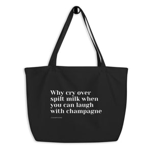 Champagne - Large organic tote bag - Default Title
