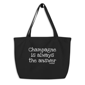 Champagne - Large organic tote bag