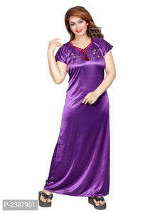 Women's Embroidered Satin Nighty
