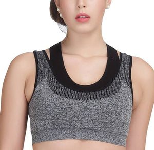 Cotton Spandex Solid Sports Bras