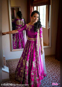Gorgeous Taffeta Silk Embroidered Lehenga