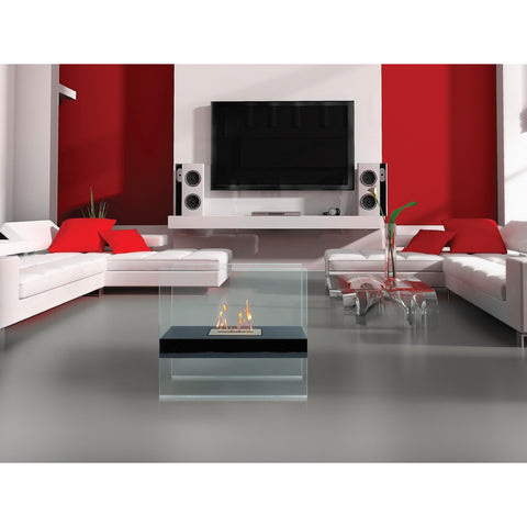 Ventless Free Standing Ethanol Fireplace