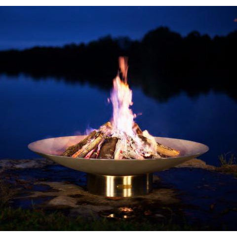 "46"" Handcrafted Stainless Steel Fire Pit"