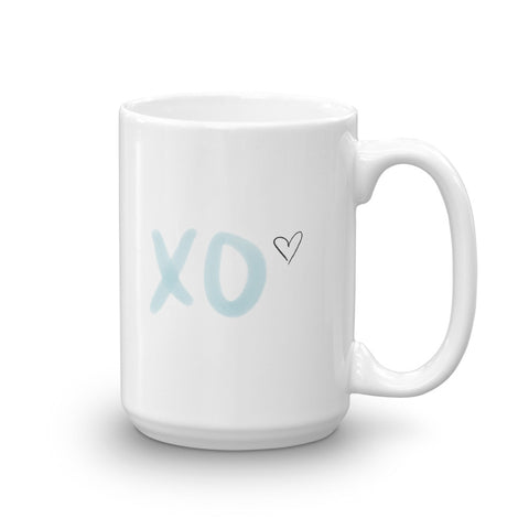 XO with Heart Mug | White | 11oz & 15oz