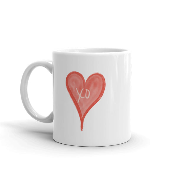 Heart With Xo Mug | White | 11oz & 15oz