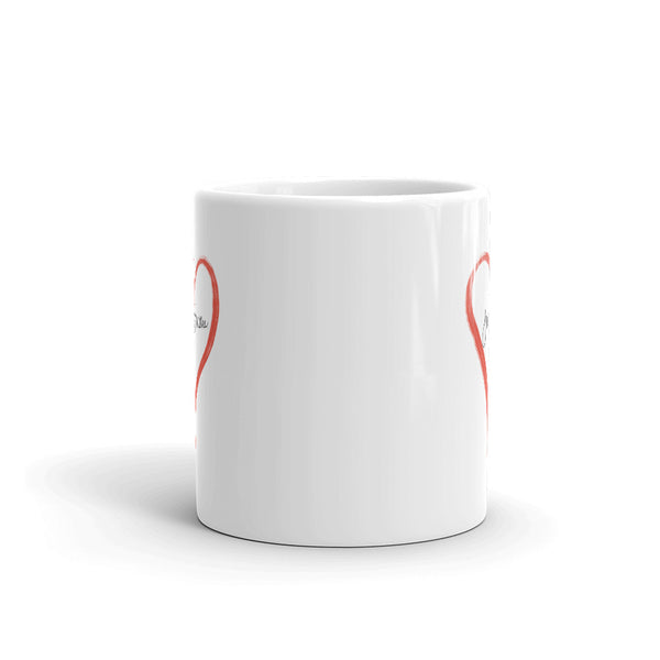 Just Breathe Classic Mug With Heart | White | 11oz & 15oz