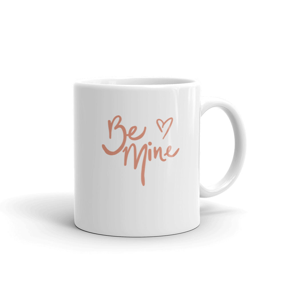 Be Mine Classic Mug With Hearts | White | 11oz or 15oz