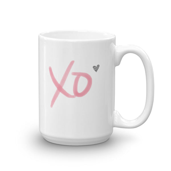 XO Heart Mug | White | 11oz or 15oz