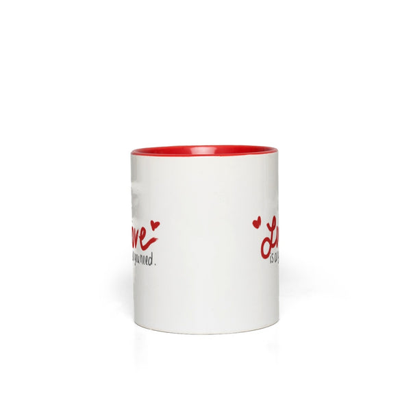 Love Is All You Need Mug | White & Red | 11oz - The Modest Mug