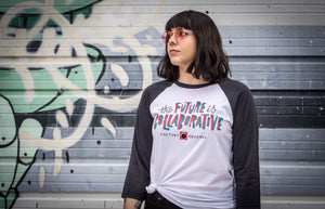 Adult The Future Is Collaborative Baseball T