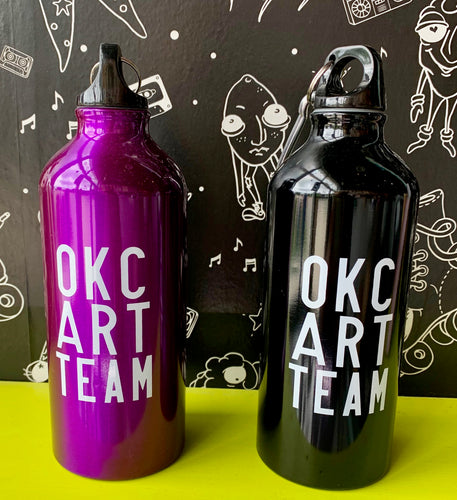 Factory Obscura Artist: Sara Cowan OKC ART TEAM Water Bottles