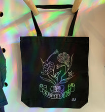 Load image into Gallery viewer, F.O. Artist Amber Rae Black: Hand Painted One-Of-A-Kind Tote Bag