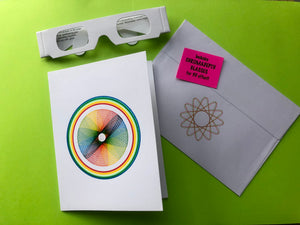 Hypno Spiro Greeting Cards W/Chromadepth Glasses