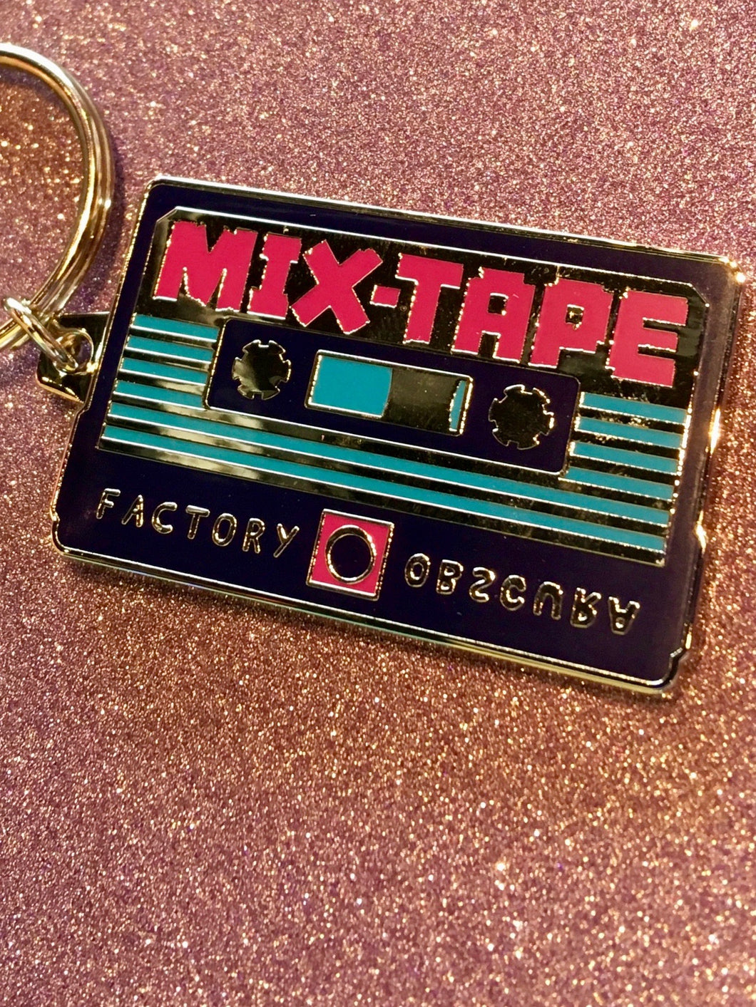MIX-TAPE Cassette Keychain