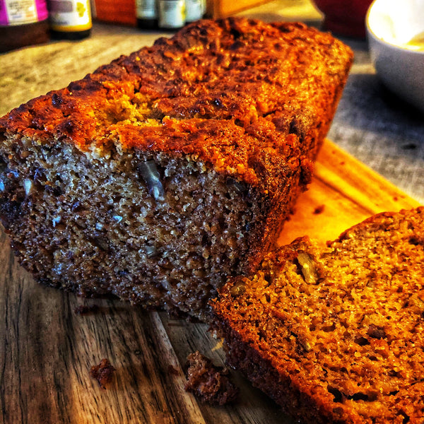 Honey gluten-free banana loaf