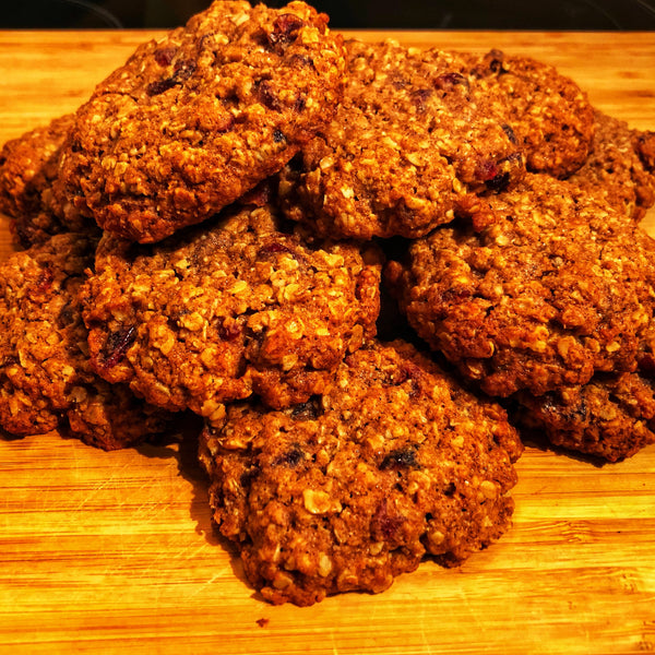 Honey craisins oatmel cookies
