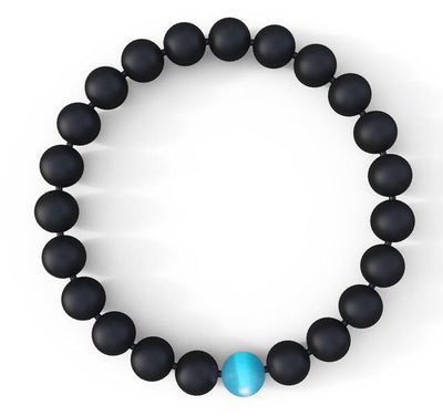 Water Drop Bracelet - Semi-Precious Natural Stones (8mm) - Handmade Genuine Quality Onyx Bracelets