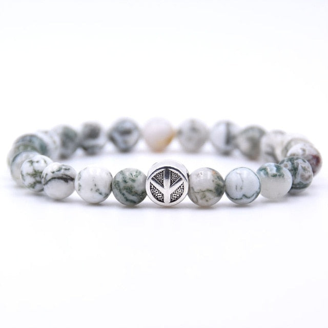 Peace sign Bracelet Classic Natural Stone 18 styles