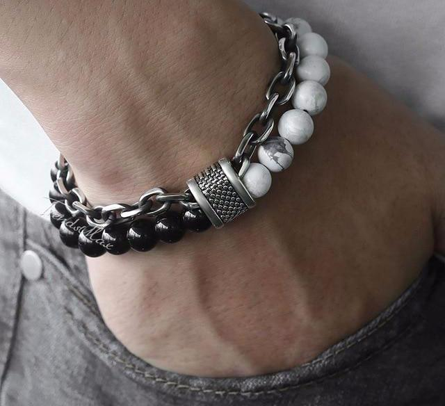 Braceletbox - Natural Stone Stainless Steel Bracelet Set
