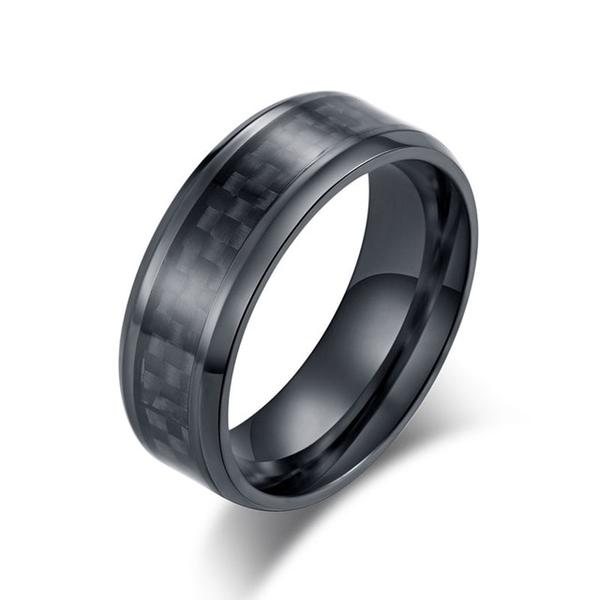 Carbon Fiber Ring - Black