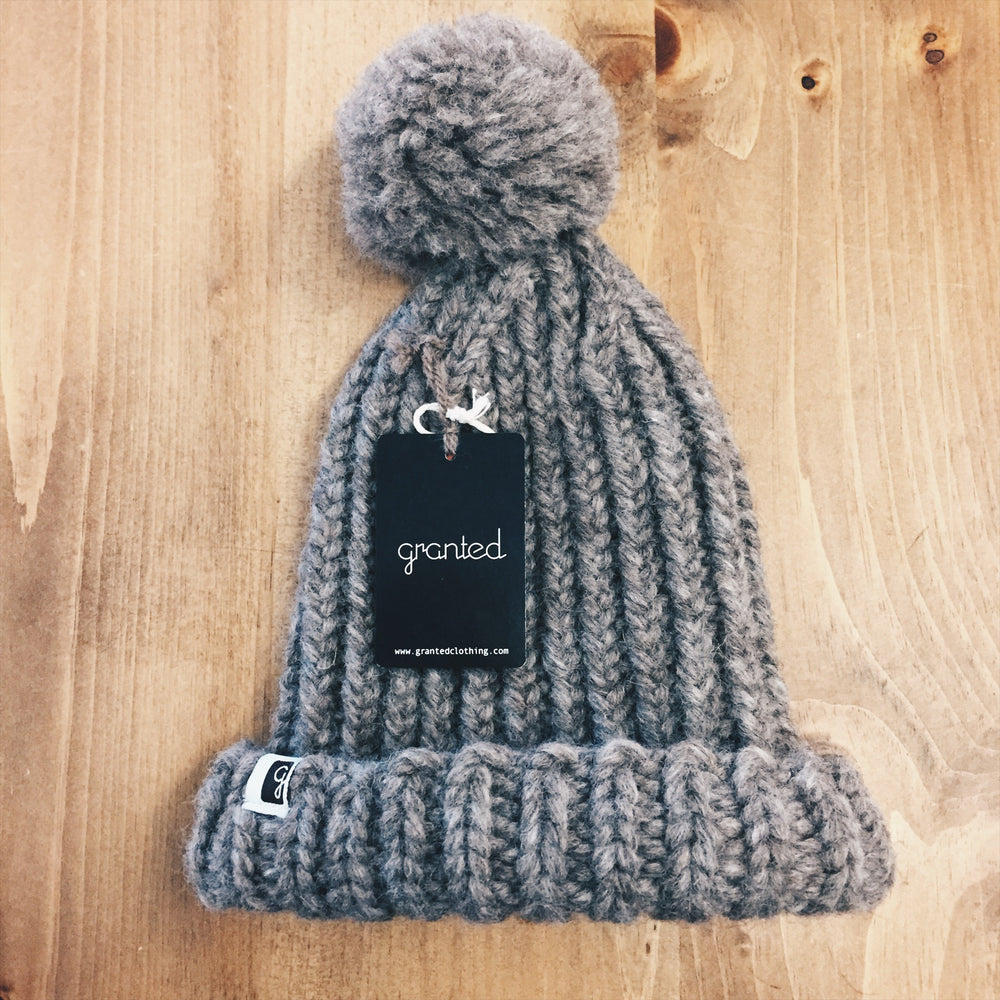 Wool Grey Toque