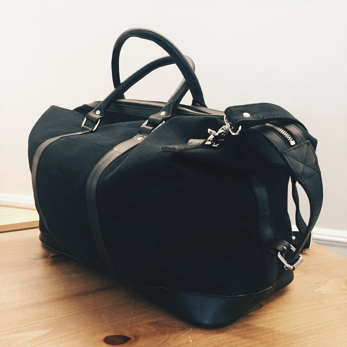 Sandqvist Weekend Bag Canvas and Leather - Black