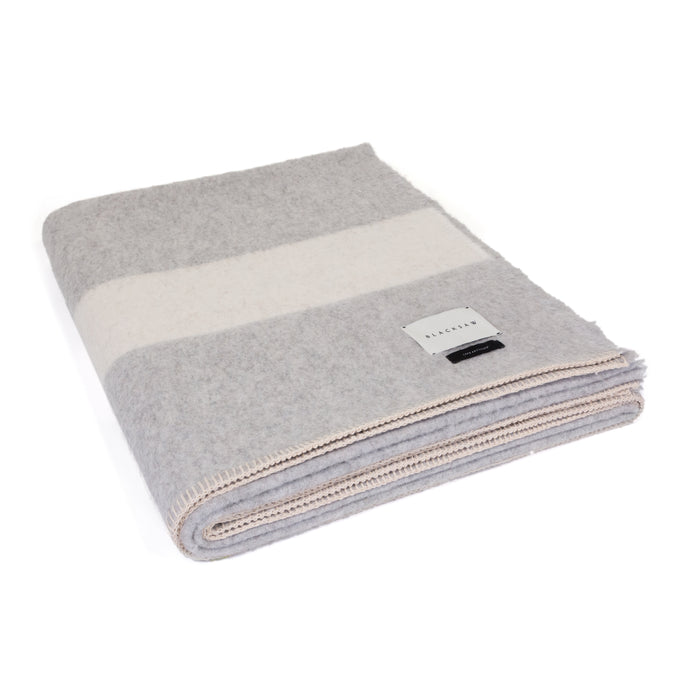 The Siempre 100% Recycled Light Heather Grey Blanket - Blacksaw