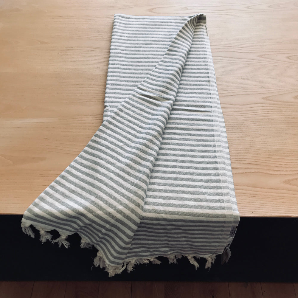 Sunday Dry Goods Turkish Cotton Throw Grey