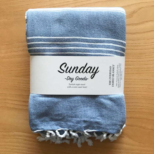 Sunday Dry Goods Everyday Family Blanket Blue