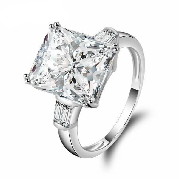 5 Carat Princess Cut Silver Ring of Compassion™ - Meyala