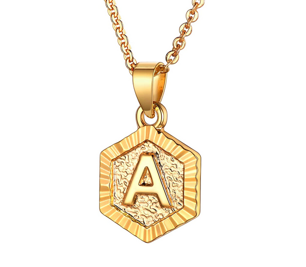 Custom Initial Coin Necklace - Glow