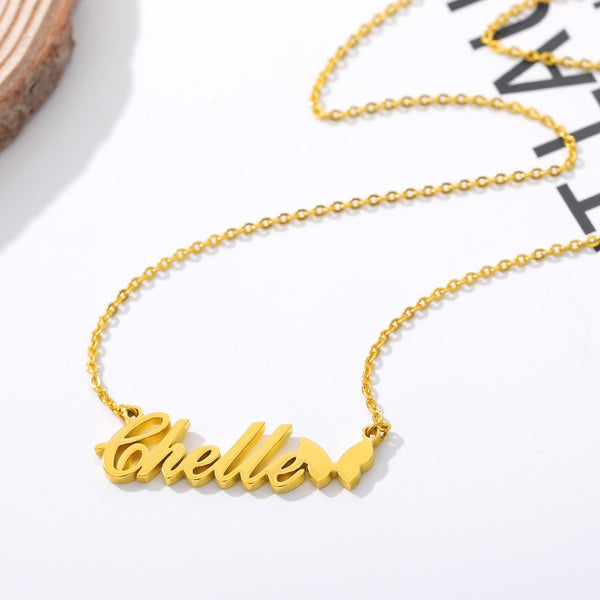 Custom Name Necklace - Italic with Icon