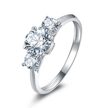 Load image into Gallery viewer, Triple Diamond Style White Gold Clad Silver Ring of Calmness™ - Meyala