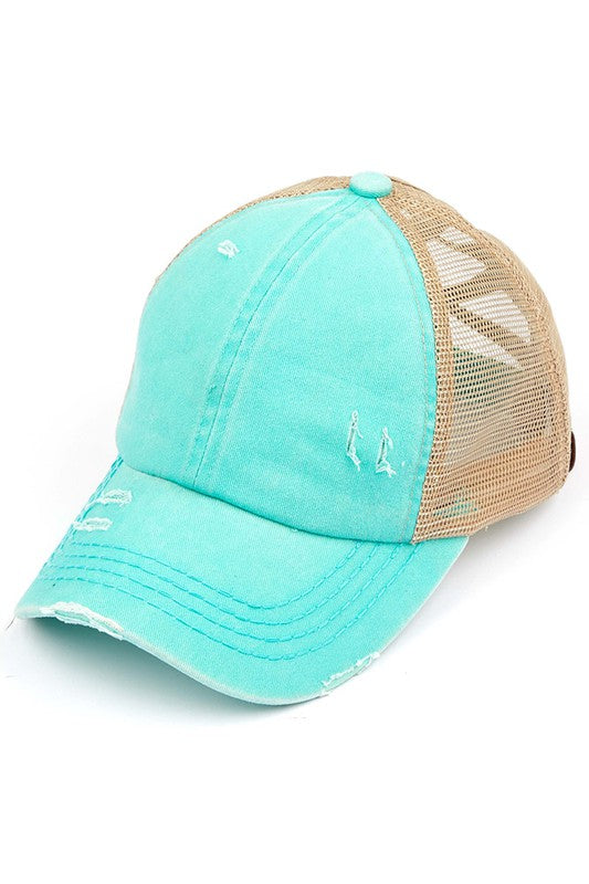 CRISS CROSS MESH BALL CAP