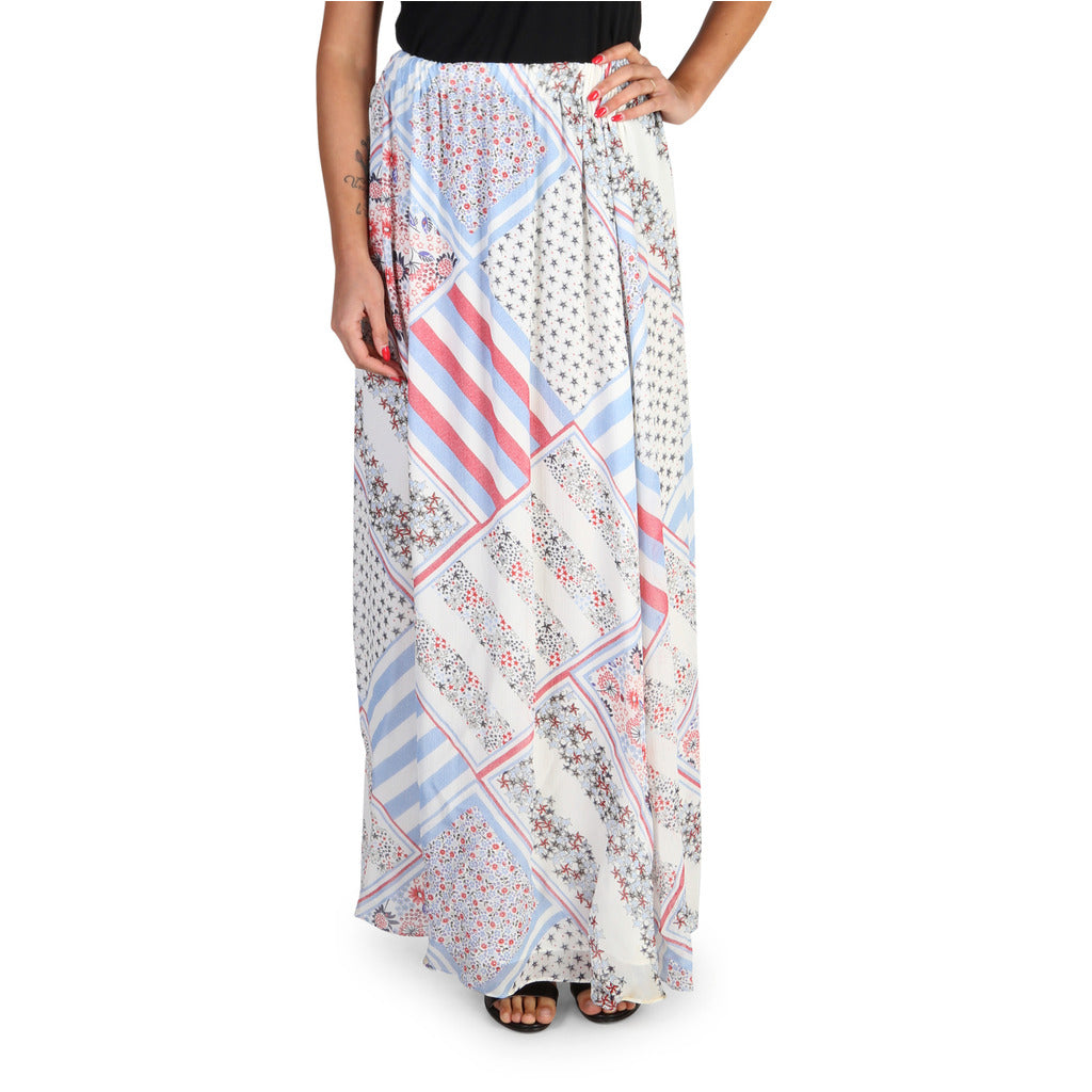 Tommy Hilfiger - WW0WW18337 - Women's Long Silk Skirt